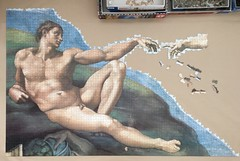 Michelangelo: The Creation of Adam - progress #8 (Danijel Legin) Tags: adam puzzle jigsaw michelangelo ravensburger 12000
