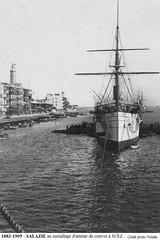 1893-1905 - SALAZIE au mouillage interne  PORT SAD (MIKOS-35) Tags: les paquebots postes des messageries avaient une livre blanche lorsquils taient sur la ligne dextrmeorient sagon japon et coque noire autres lignes