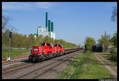 DB Cargo 265 029, Duisburg-Wannheim 21-04-2016 (Henk Zwoferink) Tags: db cargo duisburg nordrheinwestfalen hkm 015 henk duitsland 265 029 schenker dbc gravita voith zwoferink