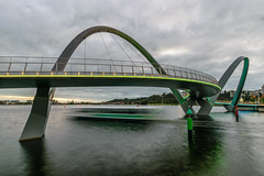Grey with Green Highlights, Perth (stephenk1977) Tags: bridge sky green ferry nikon moody footbridge australia pedestrian perth western wa elizabethquay d3300