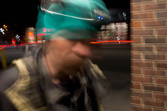 Seattle, WA (Paul Millan) Tags: seattle street urban blur streets color night speed noche photographer shadows slow candid streetphotography ballard urbano