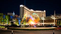 City Center Las Vegas (campmusa) Tags: buildings landscape spring nightlights nightscape lasvegas nevada casino montecarlo nightshots fountains citycenter 2016 nikond750