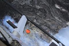 Lava Vent Aerial (U.S. Geological Survey) Tags: usa hawaii lava science aerial helicopter crater hi hawaiivolcanoesnationalpark usgs kilauea puuoo hvo eastriftzone neflankvents