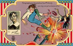 Photograph Your Boy Before the Fourth of JulyYou May Not Get a Chance After (Alan Mays) Tags: old blue girls red white dogs boys animals yellow danger vintage paper children stars cards typography photography death gold clothing dangerous holidays purple fireworks photos antique stripes 4th illustrations patriotic before ephemera clothes accidents photographs postcards type fourthofjuly after advice greetings beforeandafter 1910s explosions july4th 4thofjuly july4 fourth independenceday fonts printed borders firecrackers typefaces injuries greetingcards postcardseries 1098 fatalities fotograph fotographs seriesno1 fourthofjulyseriesno1