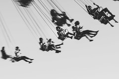 Flying (World-viewer) Tags: park county carnival sky people blackandwhite bw blur color art monochrome fun 50mm prime amusement movement ride artistic outdoor circus sony ngc fair amusementpark rides f18 18 ilce6000