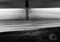 Black sunrise (Vivid_dreams) Tags: blackandwhite bw sun lake abstract detail art water monochrome sunrise artistic digitalart lakeontario digitalphotography digitalmanipulation abstractnature artisticmanipulation
