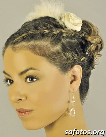 Penteados para noiva com tranças