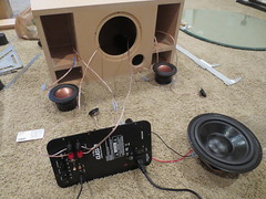 Testing all components (burritobrian) Tags: diy speaker boombox overnightsensations speakerbuild sd215a88