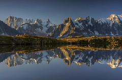 Lac de Cheserey Reflections - French Alps (sunstormphotography.com) Tags: france mountains alps reflection alpine hdr frenchalps aiguilledumidi grandesjorasses lesdrus polarisingfilter ndgradfilter canon450d blatiere canon1585 aiguillesduplan lacdechesery