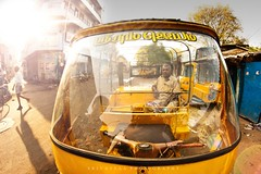 Vanakkam Chennai :) (srivatsaa) Tags: auto lighting shadow india inspiration photography indian chennai fisheyelens morningshot incredibleindia momentofshadow samyung8mmfisheyelens