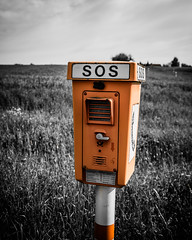 SOS (<DXR>) Tags: orange nikon sos nikkor afs colorkeying unterfranken 2470 notruf 28g mainfranken d7000