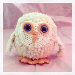 Another Little Baby Owl (carolinematt2) Tags: baby crochet cream peach owl uploaded:by=flickrmobile flickriosapp:filter=nofilter
