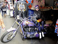 Camden Market 1 (FrankLong) Tags: city uk england people london tourism mannequin girl sunglasses leather fashion statue female shopping hair person town model glamour purple market lock camden capital decoration shades plastic motorbike gb shops biker fashionable