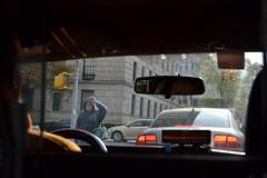 Old Lady Hailing A Cab. (bushrestaurant) Tags: new york old city nyc lady waiting cab taxi hailing