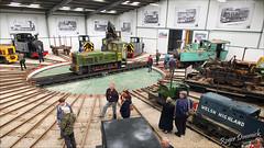 Undercover... (Roger Dimmick) Tags: uk england train britishisles engine railway trains steam staffordshire gauge narrow warwickshire locomotives narrowgauge statfoldbarn