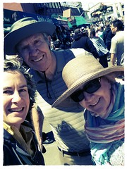 with mom and dad in fisherman's wharf (moyalynne) Tags: tourists flickrandroidapp:filter=chameleon fishermanswharfinnerharborhistoricfishingfleet
