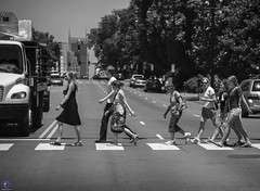 Walking Across West End (raisinsawdust - (aka: withaneyephotography)) Tags: street people bw walking blackwhite nikon nashville tennessee crosswalk westend d600 2013 nikond600