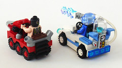 Freeze & Bane Racers back (Oky - Space Ranger) Tags: ice dc gun ray lego mr mini super diamond freeze batman mister heroes racers universe bane drill zamboni resurfacer