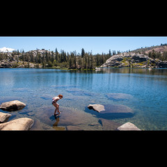 Island Lake (dmacphoto) Tags: california camping summer lake water childhood tallulah forest swimming hiking sierra alpine backpacking islandlake tahoenationalforest
