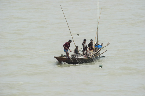 Fishermen on the Meghna river near Bhola. Photo by Finn Thilsted, 2012.