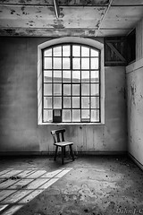 urban bw art abandoned window monochrome mobile chair... (Photo: ZerberuZ1 on Flickr)