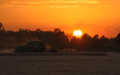 Harvest (svendoehler) Tags: sunset john sonnenuntergang harvest feld bauer deere harvester ernte frth mhdrescher unterfrberg