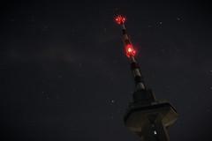 Paradox (Yoan Alexiev) Tags: red sky tower night stars lights beacon