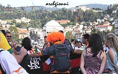 piazza vittorio (archgionni) Tags: girls party people italy orange hair square torino italia colours gente hills piazza festa picturesque turin colori colline arancione vittorio capelli ragazze