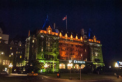 The Empress at Night (www78) Tags: night hotel harbor columbia victoria inner british empress