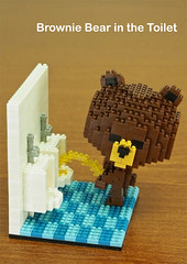 Character Series - Brownie Bear (inanoblock) Tags: bear brown cute funny lego bricks steps ducky brownie instructions blocks build nanoblock ナノブロック nanoblocks