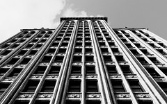 The Lamar Building (ep_jhu) Tags: abandoned lines canon ga georgia downtown unitedstates perspective lookingup explore 7d highrise augusta abandonado lamarbuilding