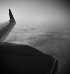 Approaching Berlin with it's TV tower peaking through the clouds (spieri_sf) Tags: sky berlin plane wings txl originalfilter uploaded:by=flickrmobile flickriosapp:filter=original ua96