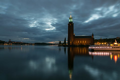 Stockholm City Hall At Night (stevebfotos) Tags: longexposure night cloudy stockholm blinkagain blink4gallery