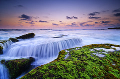 Spilled [Explored] (eggysayoga) Tags: longexposure blue sunset sea bali seascape motion seaweed beach water indonesia landscape golden moss nikon soft day lima hard wave tokina clear filter 09 lee hour nd pantai graduated waterscape gnd canggu 1116mm d7000