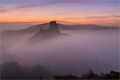 Pre Dawn Mists (Chris Beard - Images) Tags: uk morning mist sunrise landscape dawn dorset mists corfecastle