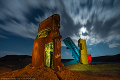 Fever Dream (dejavue.us) Tags: longexposure nightphotography lightpainting abandoned nikon desert nevada nikkor d800 goldfield 1835mmf3545d vle carforest