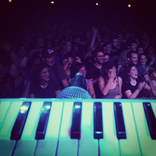 A view from a Melodica... #marseille It was probably the loveliest crowd so far... Not big, not crazy, just lovely!