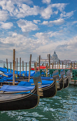 Some Gondola and the Basilique Santa Maria della Salute (lucien_photography) Tags: venice italy water canon boat italia gondola bateau venise venezia italie venetia gondolier santamariadellasalute markiii canon5dmarkiii 5dmarkiii