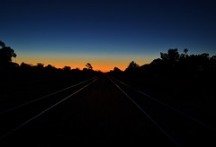 To infinity, and beyond.... (Celeste005) Tags: sunset train dusk north tracks australia mid twotracks