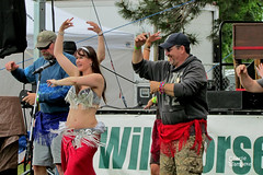 Belly Dancing lessons during band changeover closeup 2011 Untapped Blues and Brews Festival Kennewick Washington 110514-162458 C4Tc (Wambeke & Wambeke Photography, Art, & Textiles) Tags: bellydancinglessons bellydancer 2011untappedbluesbrewsfestival bluesandbrews untappedbluesbrewsfestival kennewickwabluesfestival kennewickwa funtime charliewambekephotography wambekewambeke canonsx30photograph