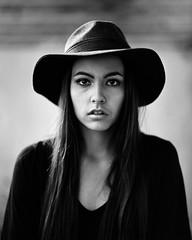 . (Sandy Phimester) Tags: portrait film girl beautiful hat fashion youth model trix pentax6x7