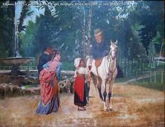 Eugenio Prati La piccola fioraia a villa Borghese Roma 1872 olio su tela 41 x 53 cm