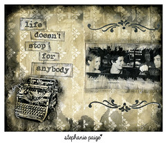stephanie paige art journal ~22 (stephaniepaigecreates) Tags: art collage stencil acrylic mixedmedia stamp quotes per col perks artjournal artjournaling theperksofbeingawallflower stephenchbosky stephaniepaige stephaniepaigecreates