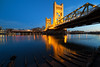 Tower Bridge Blues (boingyman.) Tags: bridge towerbridge landscape cityscape sacramento bluehour scape sacramentoriver ultrawideangle boingyman