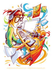 busy designer (anggatantama) Tags: illustration digitalart tshirt illustrator tee tshirtdesign vector adobeillustrator angga digitalartwork digitalartist anggatantama tantama