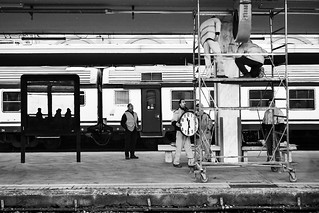 Stazione di Livorno - Maintenance workers at work