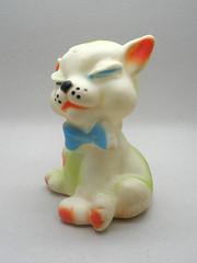 Jugasa Kitty (The Moog Image Dump) Tags: blue cute cat vintage toy spain kitten kitty espana bow kawaii neko squeaker squeaky jugasa