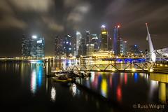 Singapore skyline. January 2014 (Russ Wright) Tags: travel buildings photo singapore cityskyline 2014