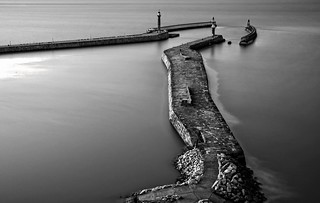 . . . whitby pier seen from abbey
