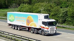 AY57 BWF Newport 03-05-14 (panmanstan) Tags: truck wagon yorkshire transport lorry commercial newport vehicle scania m62 a63 r420